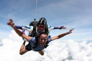 parachute chute libre