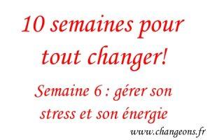 gerer stress et energie