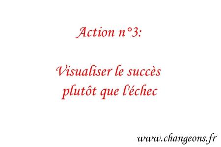 visualiser le succès - changeons
