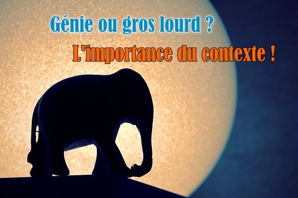 genie ou idiot : l'importance du contexte - changeons