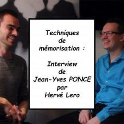 interview Jean-Yves Ponce - techniques de mémorisation